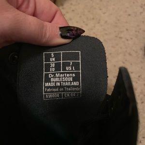 c92d3c8b0025 Dr. Martens Shoes - Dr Martens Burlesque boots 14 eye pinup devil rose